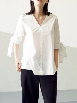 Plain Simple Half Sleeve Blouse