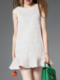 Sleeveless Casual Ruffled Mini Dress