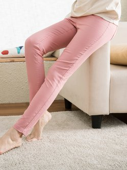 Casual Pockets Plain Skinny Leg Pants