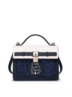 PU Zipper Small Sweet Satchel