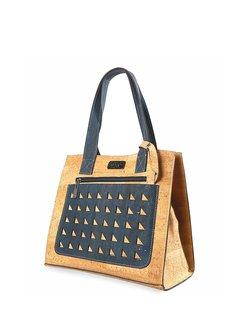 Cork Leather Magnetic Medium Shoulder Bag