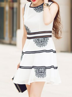 Risultati immagini per stylewe holiday dresses /CC.Su White Casual A-line Embroidered Mini Dress