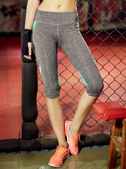Light Blue Natural Leggings Stretchy Bottom (Sportswear for Yoga)