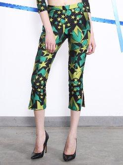 Multicolor Geometric Printed Statement Skinny Leg Pant