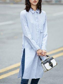 Simple Shirt Collar Blouse