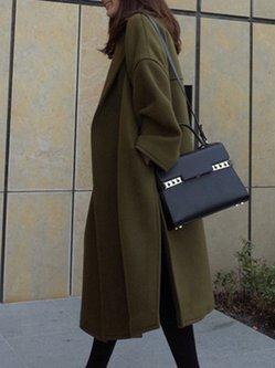 Lapel Casual Solid Coat