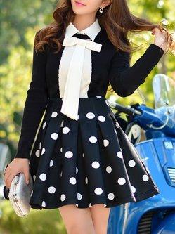 Black Zipper Mini Skirt