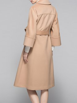 Long Sleeve Solid Simple Coat