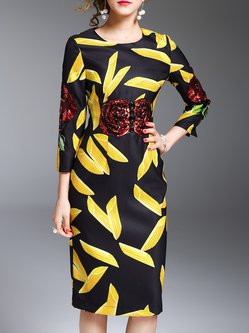 3 4 sleeve yellow dress 00
