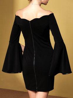 Black Elegant Binding Mini Dress
