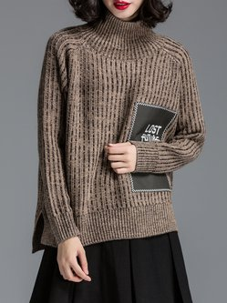 Coffee Casual Paneled Sweater