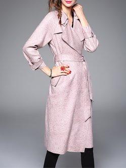 Lapel Long Sleeve Suede Elegant Coat