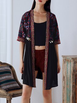 Half Sleeve Boho Paneled Tribal Kimono