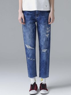 Red Blue Denim Jeans - Shop Online | Stylewe