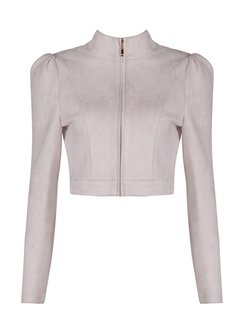 Pink Cropped Jacket - Shop Online | StyleWe