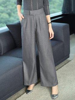 Knitted Elegant Wide Leg Pants