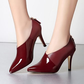 Feminine-beauty Stiletto Heel Split Joint Heels