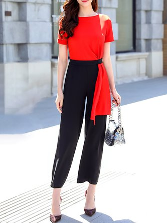 Daytime Casual Folds Summer Jumpsuit