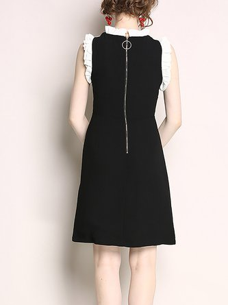 28a6292b926 Black Sheath Date Frill Sleeve Embroidered Floral Midi Dress. Quick Shop