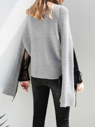 Long Sleeve Casual Cutout Turtleneck Sweater