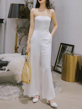 dcb48f9470ed White Elegant Sleeveless Strapless Jumpsuit