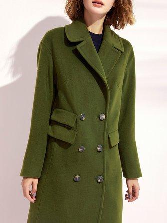 Lapel Casual Long Sleeve Solid Coat