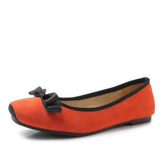 Flat Heel Suede Casual Spring/Fall Bowknot Flats