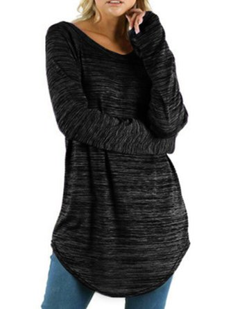 Round Neck Shift Casual Top
