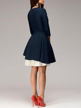Statement Party A-Line Tiered Solid Midi Dress