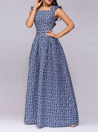 14ef1ae540 Blue A-Line Prom Elegant Party Maxi Dress