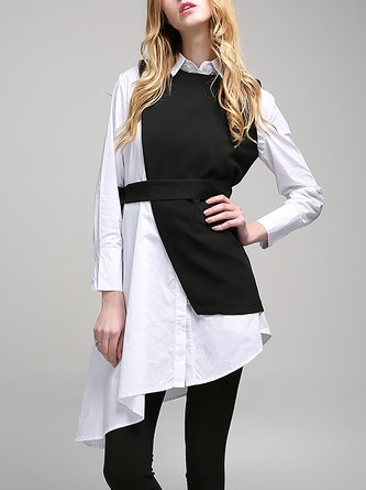 Statement Black Long Sleeve Two Piece Tunic