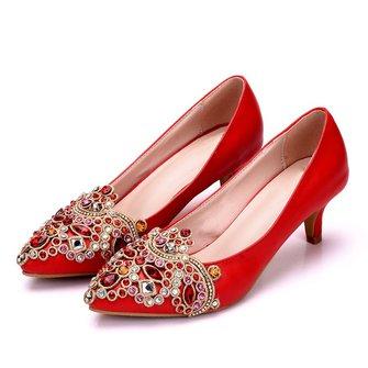 Elegant Wedding Party & Evening Rhinestone Heels