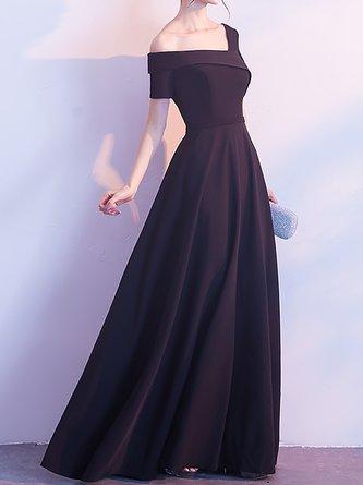 Elegant One Shoulder Swing Evening Maxi Dress
