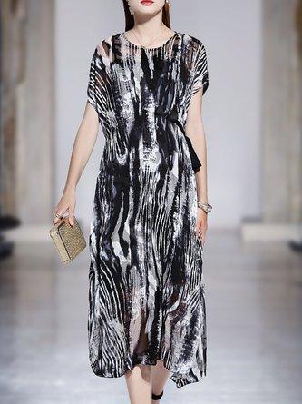 654ebbb93e42 5830 Items of black dresses. Black Swing Elegant Midi Dress