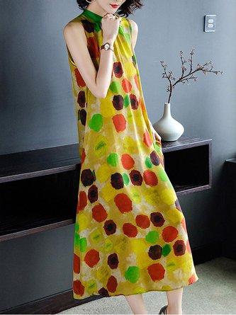Polka Dots Shift Holiday Printed Maxi Dress
