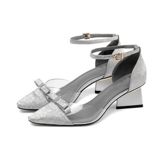 Summer Elegant Chunky Heel Pointed Toe Party Shoes