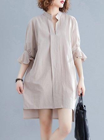 Asymmetric Shift Casual Mini Dress
