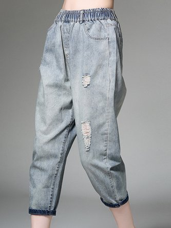Pockets Shift Casual Jeans