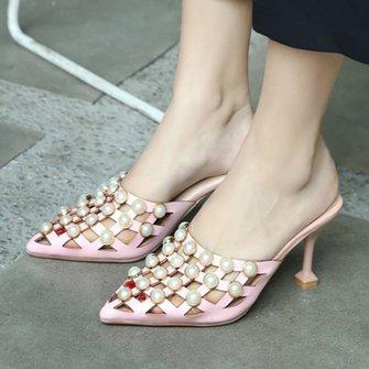 Summer Stiletto Heel Elegant Slippers