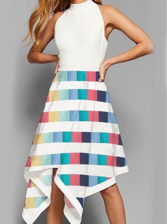 Summer A-Line Party Elegant Midi Dress