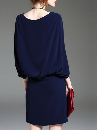 Solid Work Elegant Midi Dress