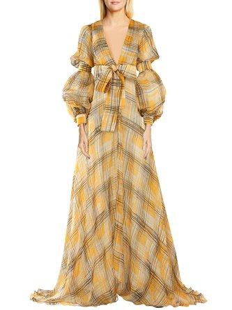 Deep V-Neck Holiday Maxi Dress