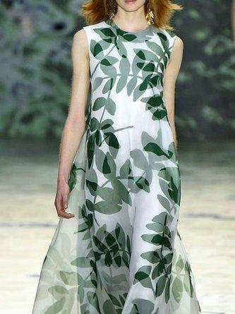 Swing Holiday Leaf Maxi Dress