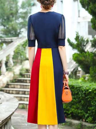 Elegant Paneled Midi Dress