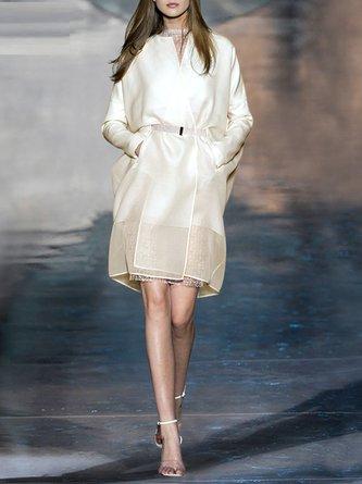 Pockets Elegant Solid Outerwear