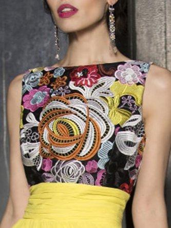 Swing Floral Elegant Prom Maxi Dress