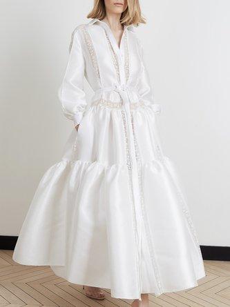 Swing Daily Elegant Solid Paneled Maxi Dress