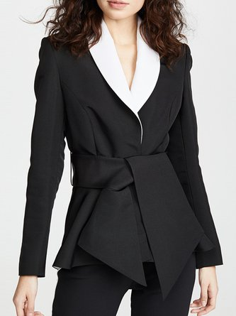 Black Elegant Sheath Work Blazer