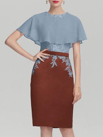 Elegant Sheath Paneled Solid Midi Dress