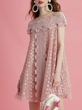 Pink Shift Sweet Midi Dress